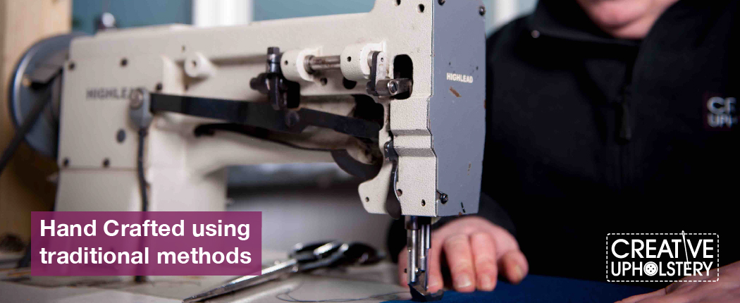 Creative Upholstery Manufacturing Page Sewing Banner